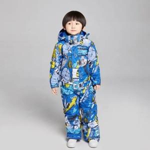 One Pieces Ski Suit Jumpsuit Waterproof Snow Wear Snowsuit for Kid Children Boys Toddler Winter Skiing Snowboarding Snow Sports