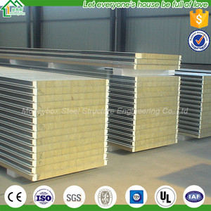 Pick And Place Low Cost Wall and roof Insulation EPS Polyurethane Sandwich Panel Price Rock Wool Panel Fire Rated Sandwich Panel