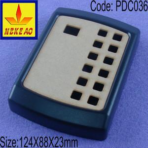 Plastic access control keypad enclosure