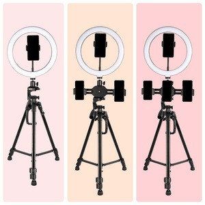 Professional audio video lighting 18inch makeup light ring dimmable led ring light kit for youtube