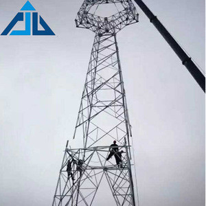 Professional manufacturer 20m high 4 leg antenna telecommunication angle steel tower