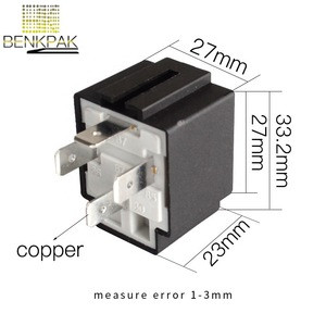 Relays top grade quality 4 pin 30A auto relay with fuse, coil voltage 12VDC relais