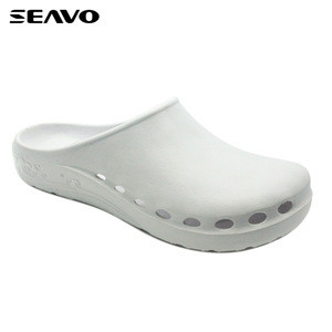 SEAVO men white holey upper eva clogs
