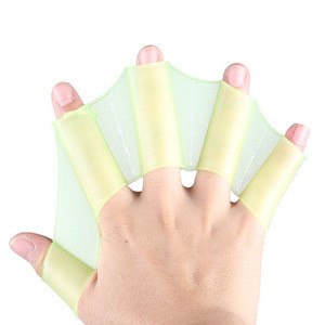 Silicone Swimming Flippers Hand Swim Web gloves size Fins Paddle Dive
