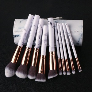 Special Professional 10 piece Marble Handle Make-up Brush