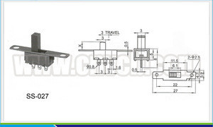 SS-027 waterproof slide switch UL CE ROHS certificated auto transfer switch