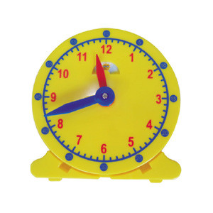 Time learning resources 10 cm plastic yellow moon sun clock manipulative toy