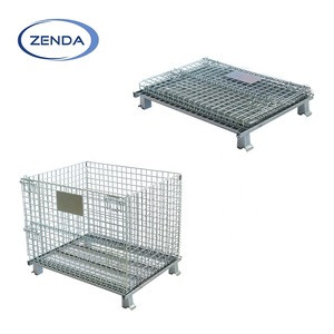 Top sell folding warehouse galvanize wire mesh storage supermarket cage