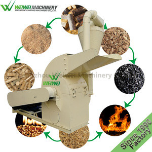 Weiwei agriculture waste wood scrap straw cutting and crushing into sawdust for biomass wood pellet machine