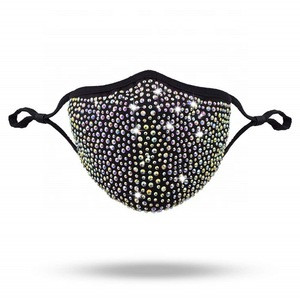 Wholesale 2020 New Style Reusable Rhinestone Party Fashion Mask for women