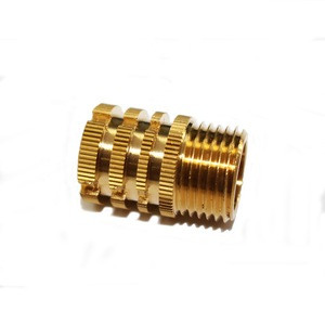 Wholesale custom brass knurled threaded inserts for plastic screw and nut fastener