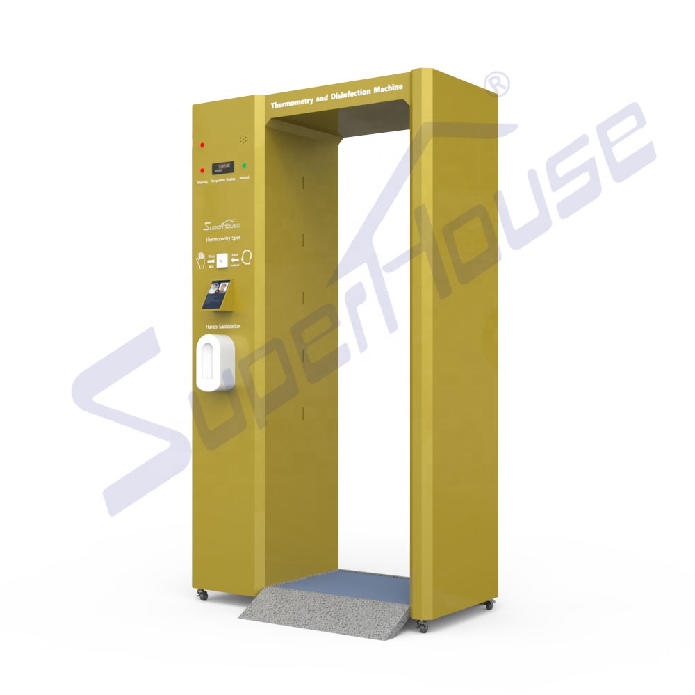 Public entry use disinfection channel intelligent machine with face recognition