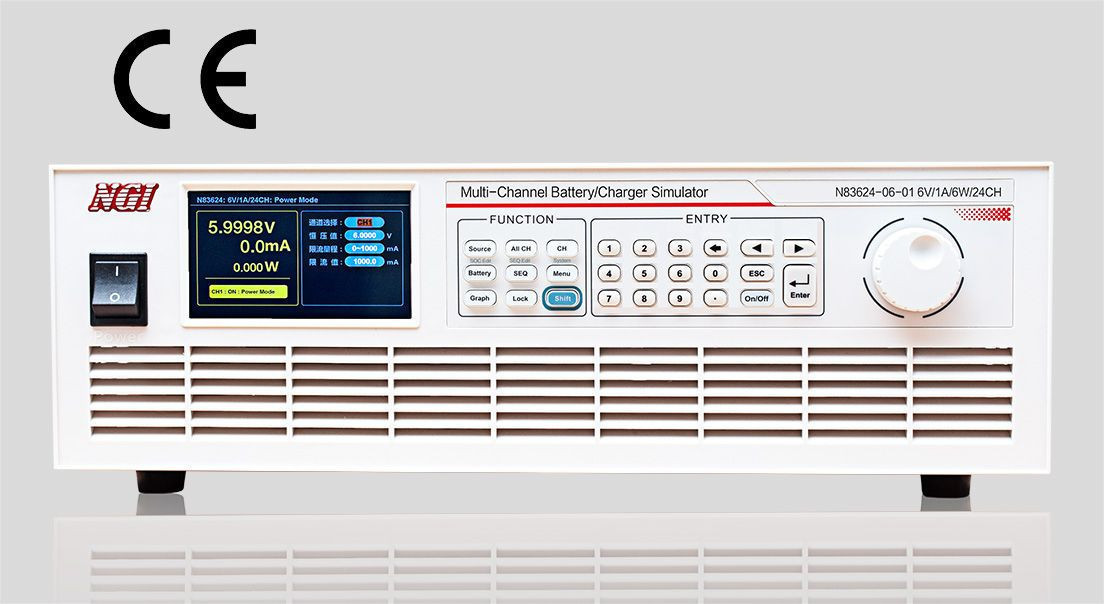 NGI N83624 Programmable Linear DC Power Supply 5A/6V/30W LAN/RS232 Interface 24 Output Channels