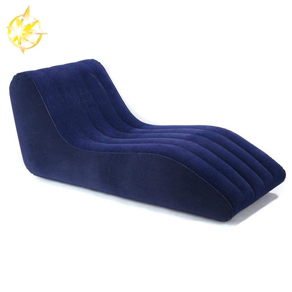 Blue inflatable lounger air sofa for courtyard,living room,outdoor and other occasions