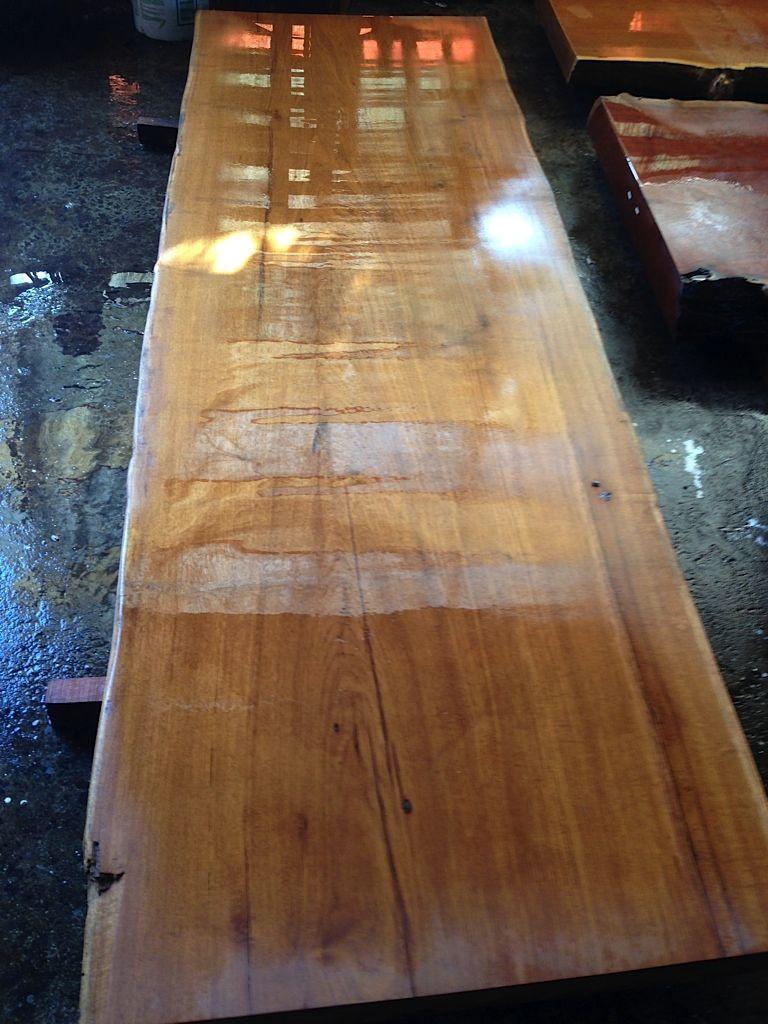 TEAKWOOD _ Large Size live edge wood slab for tabletops