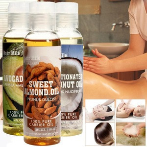 100% Pure Carrier Oil Avocado Oil Sweet Almond Oil Pressed For Skin Hair Massage Care