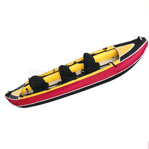 3 person seat Inflatable fishing canoe/ kayak with high quality