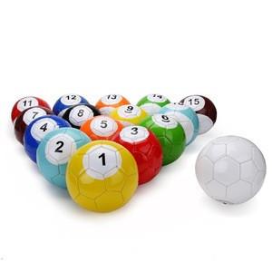 ActEarlier Size No 2  Billiard Snook Soccer Ball Football Full Set Snookball Snooker Street Game Sport Toy 16 Pcs