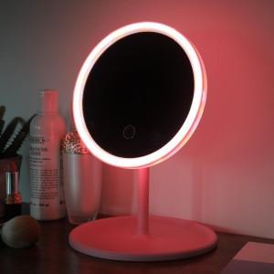 Best Price Custom Wholesale Round Portable Desktop Cosmetic Smart Table Makeup Mirror with Light Led Vanity Mirror