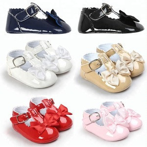 Best Seller Soft leather Sole Comfortable Touching Baby T-bar Shoes