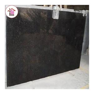 Black Galaxy Granite Polished Kitchen Countertop Slabs Cheap Granite Price Natural Black Galaxy Granite