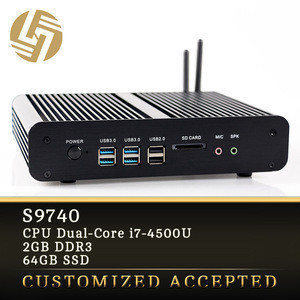 China oem manufacturer i7-4500U Dual core Turbo Boost 3.0GHz 2G RAM SSD memory mini computer office