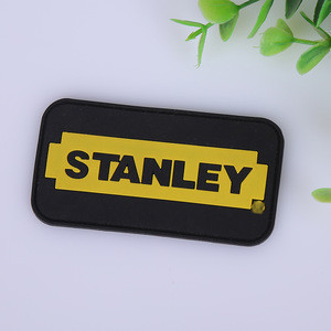 China wholesale custom 3d brand name logo embossed garment soft pvc rubber patch labels for clothing