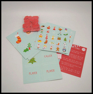 Christmas Bingo Play Cards bingo game