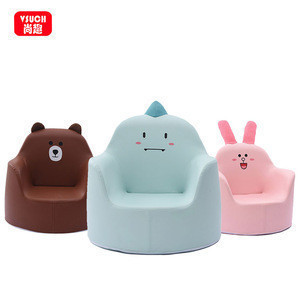Comfortable Leather Hand-Knitted Crafts Sitting Sofa Kids Baby Seat Cute