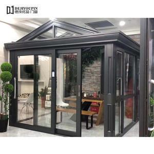 Customized Conservatory 4 season Aluminum Prefab Glass House Sunroom Solarium