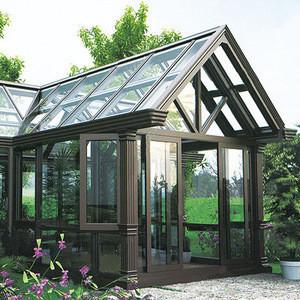 DIAOSI SangRui 60 Thermal Break Aluminum Glass Green Room Prefabricated Winter Garden Prefab Sunrooms from China Manufacturer