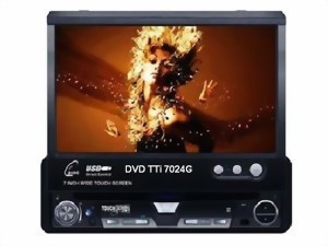 DVD player auto TTi 1 DIN, cu Bluetooth, TV si navigatie, model SA7024G, include harta Full Europa