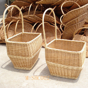 Factory directly supply cheap wicker shopping trolley for supermarket