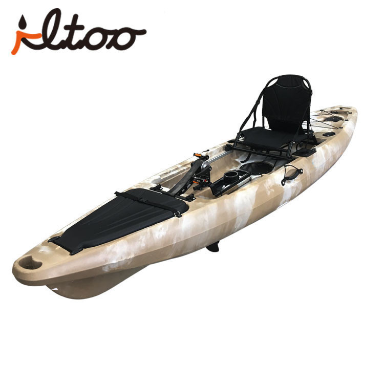 Foot pedal system fishing pedal kayak with rudder
