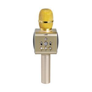 For Home Family KTV I888 Microphone Wireless Professional Karaoke Mini USB Handheld Mini Blue tooth Microphone