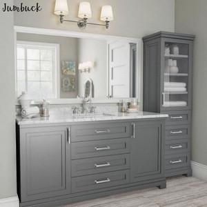 "Grey PVC moulded 24"" width mirror cabinet bathroom"
