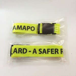 High quanlity customized long PVC safety reflective belt