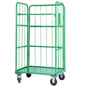 Hotel sorting truck  trolley e-commerce turnover mesh frame hand car