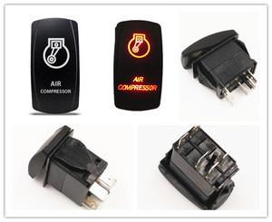 IP67 SPST Black 5 Pin Dual LED Waterproof Automotive ON OFF Marine Rocker Switch