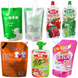 Lubricating Oil Bleach Laundry Detergent Stand-up Pouch Filling Machine