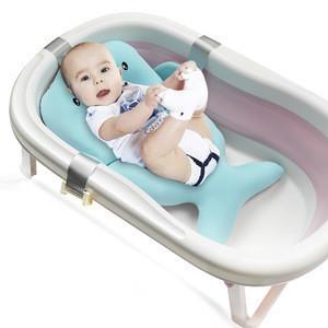 Portable Baby Bath Accessories Newborn Bathing Cushion Non-Slip Bathtub Baby Bath Mat