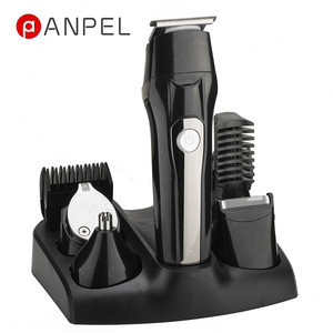 Professional 5 in 1 Rechargeable Battery Cordless Hair Trimmer Hair Clipper Set With LED Display USB charing