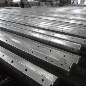 Q235B Q345B A572 Steel electric galvanized Communication high mast pole light factory direct price