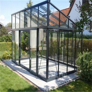 Topwindow Small Garden Tempered Glass Aluminum Profiles Extrusion Frame Luxury Aluminium Greenhouse