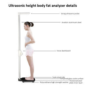 Ultrasonic Bluetooth Height And Weight Health Checking Body Fat Measuring Instrument Analyzer Scale Machine