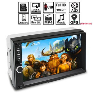 Universal wholesalecar mp5 player 2 din stereo car with fm modulato/blutooth