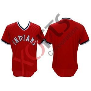 V Neck Customized Baseball Softball jersey