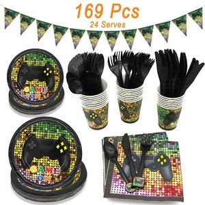Video game party supplies high quality party supplies event party decoration