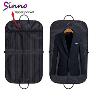 Wholesale Custom Cheap Foldable Mens Garment Suit Packaging Bag Bags for Travel make of leather non woven fabric or plastic