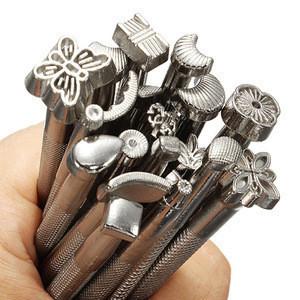 YUTE 9pcs floral print tool set & DIY printing punches & leather printing tool